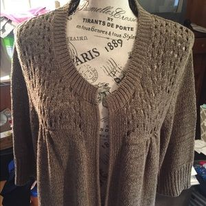 Short sleeve sweater/wrap